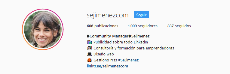 optimiza tu bio instagram